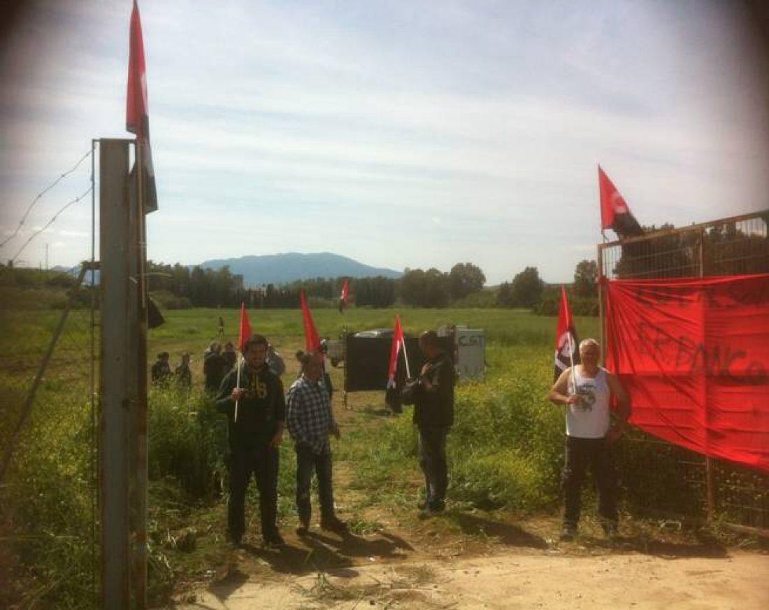 Solicitan 18 meses de prisión al secretario general de CGT Andalucía y a dos afiliados por la simbólica ocupación de una parcela en Pizarra (Málaga)