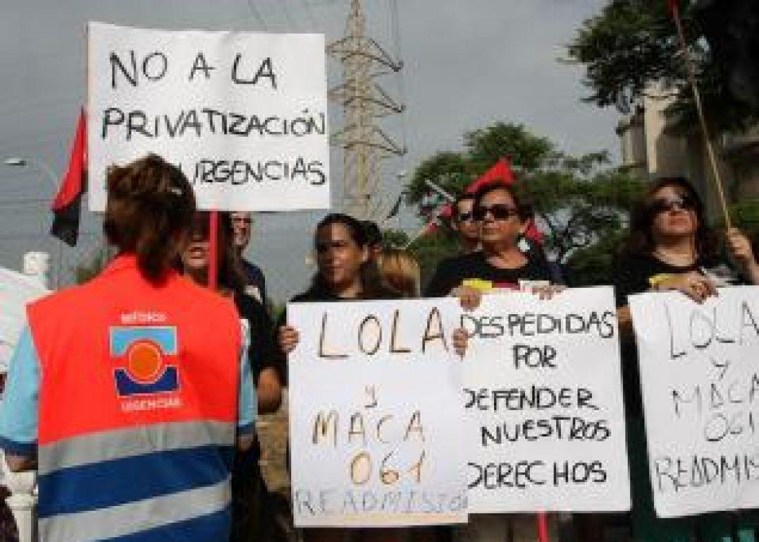 Comunicado de apoyo de la sección sindical de CGT en 061 Granada al resto de compañeros y compañeras de 061 Andalucía