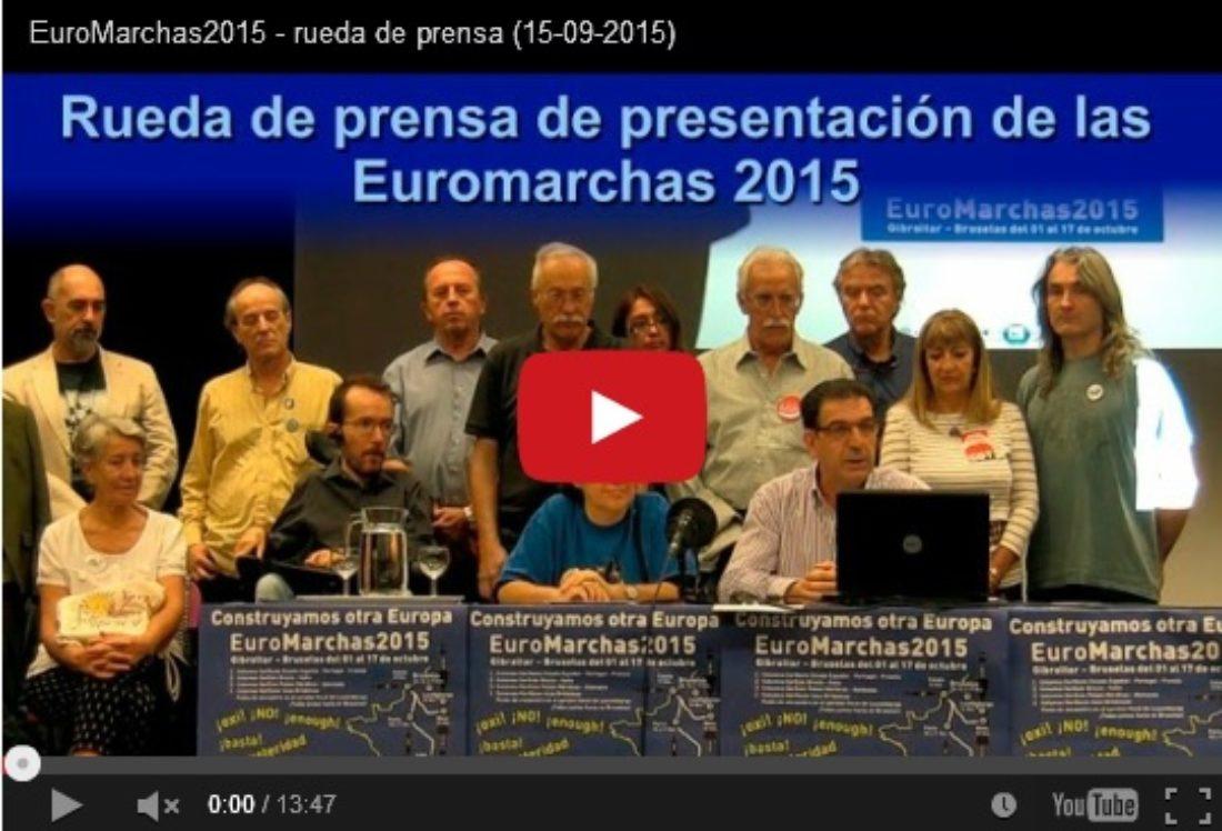 Vídeo: Rueda de prensa EuroMarchas2015