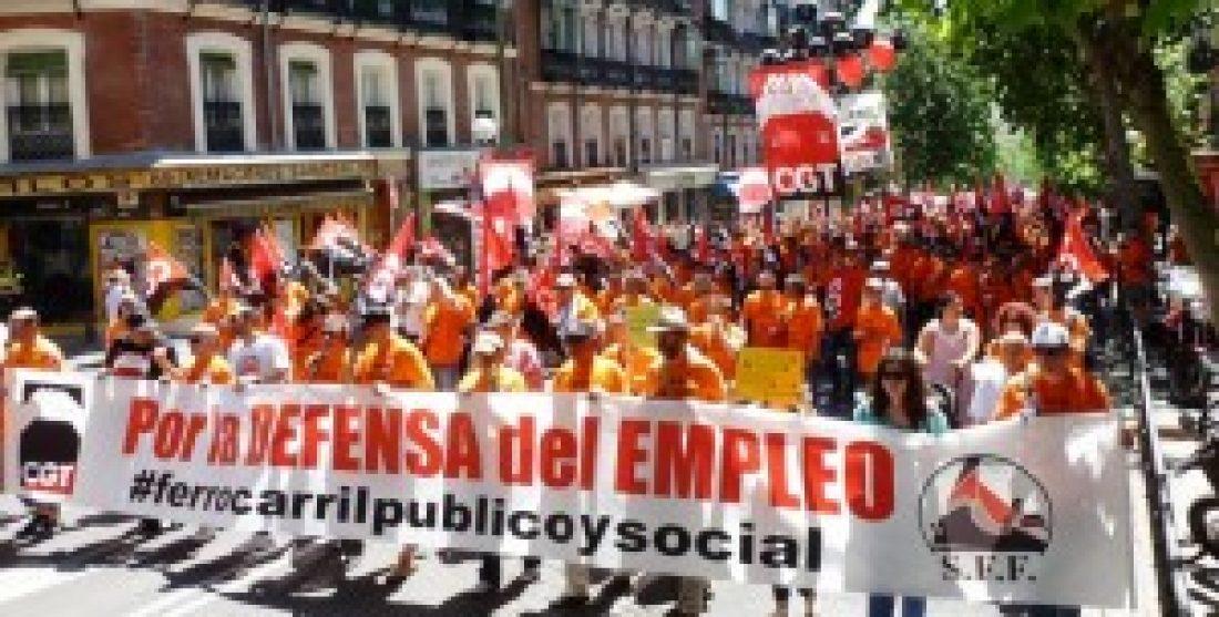 Comités de Empresa de Renfe y Adif se movilizarán de forma conjunta contra el desmantelamiento y privatización