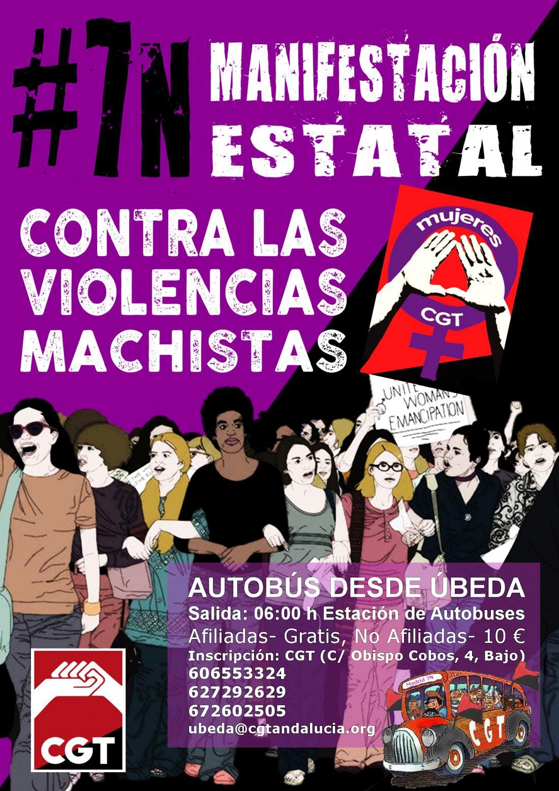 7-N: Manifestación estatal contra las violencias machistas. Convocatorias