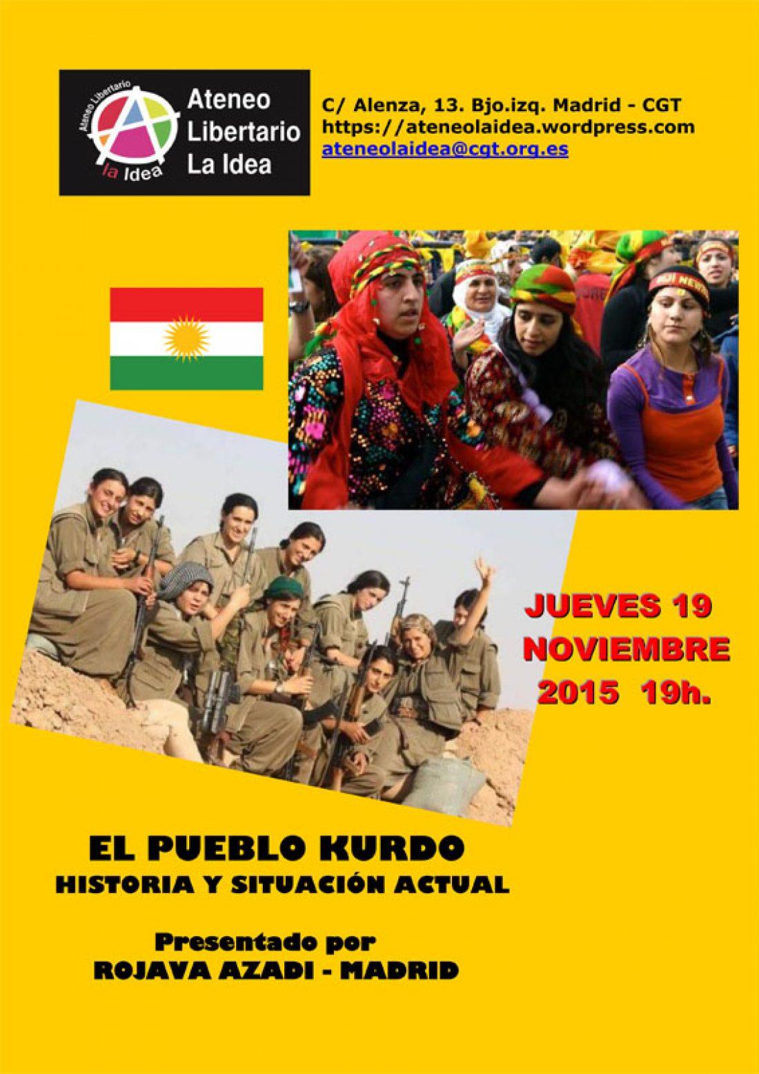 19-N: Charla-Debate sobre el pueblo kurdo en Ateneo Libertario «La Idea»