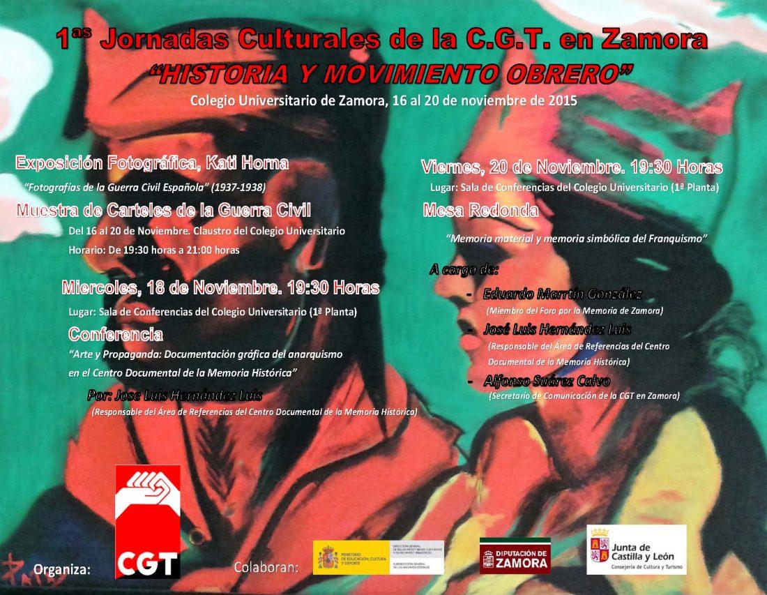 1ª Jornadas Culturales, CGT Zamora