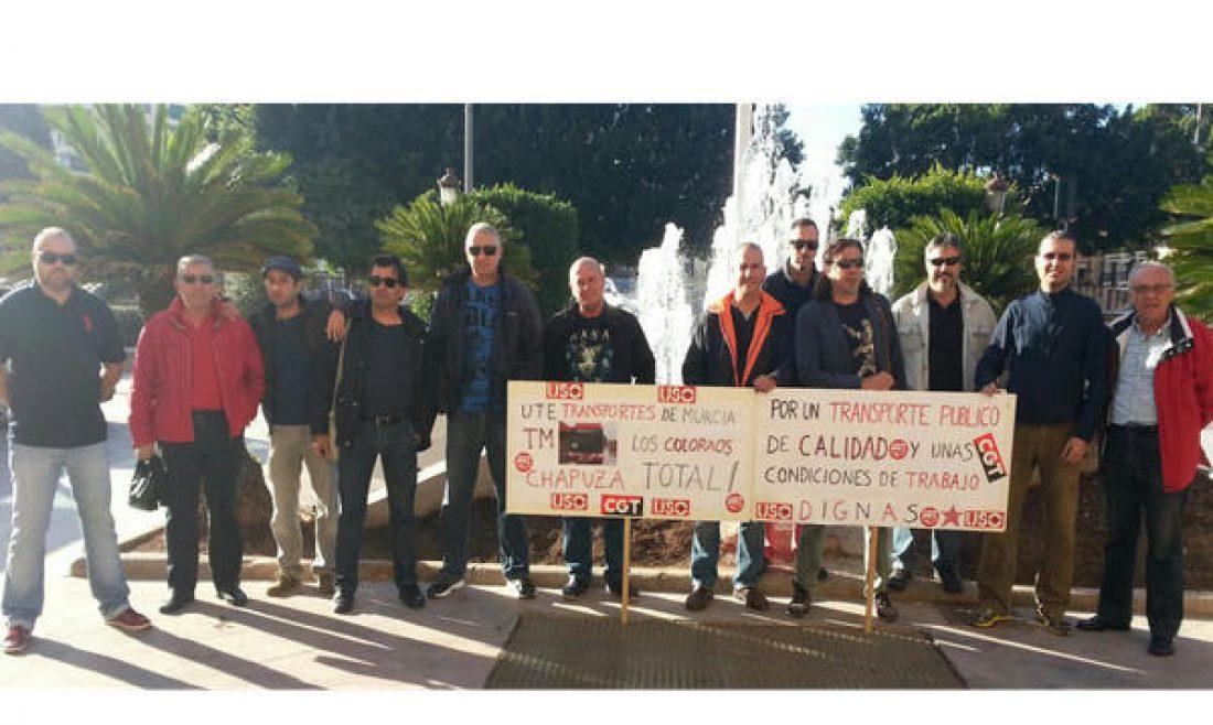 """Tras dos meses de huelga el ayuntamiento de Murcia continúa riéndose de los trabajadores y trabajadoras de transportes de Murcia, """"Los Coloraos"""""""