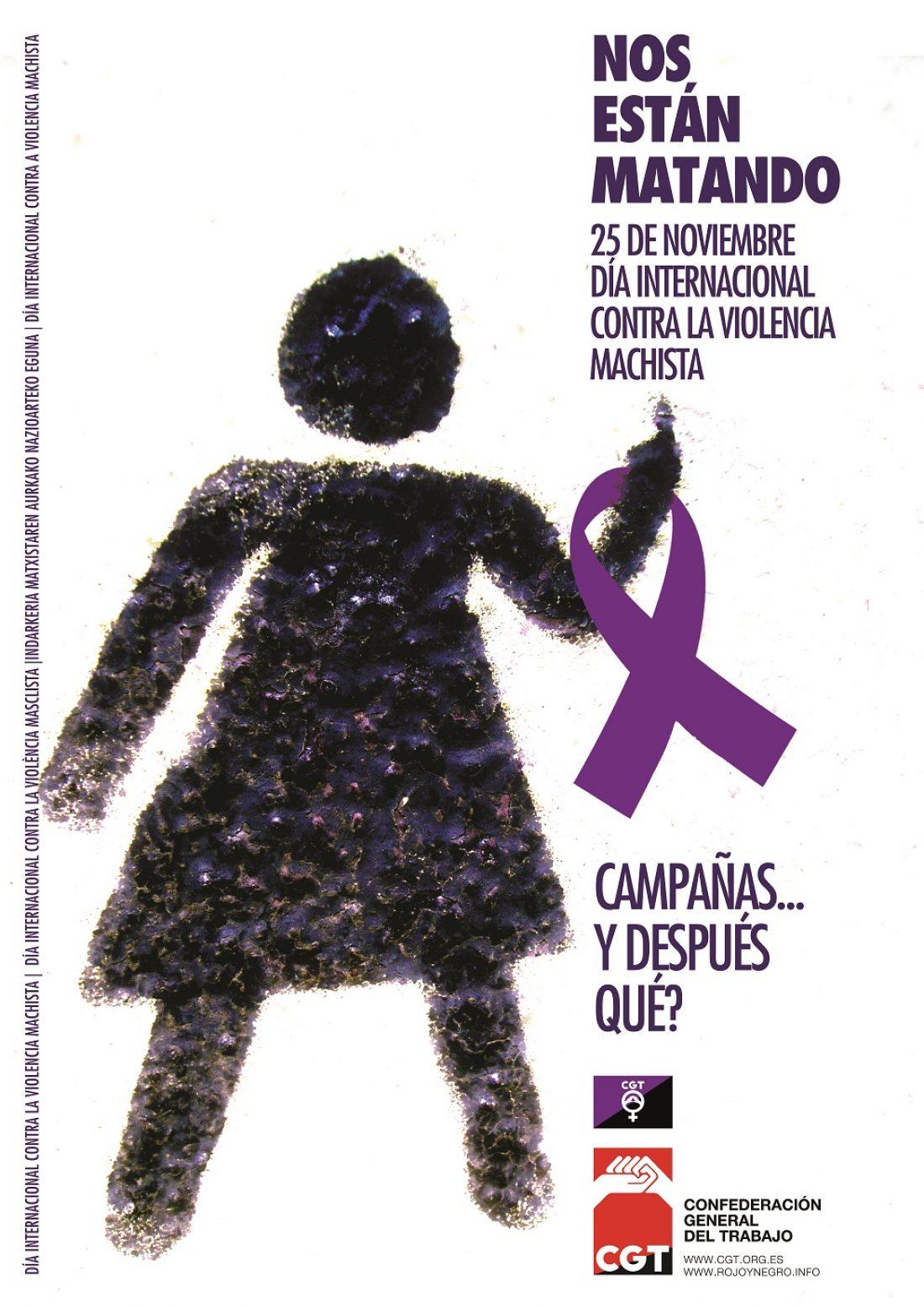 CGT llama a movilizarse este 25 de noviembre, Día Internacional contra la Violencia Machista