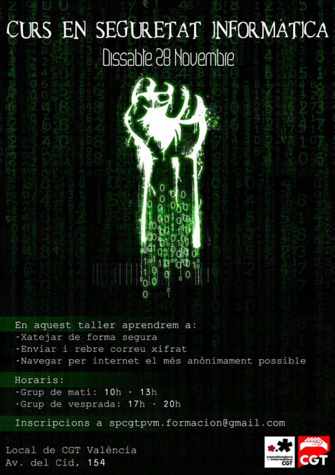 28-n Valencia: Curso de Formación en Seguridad Informática