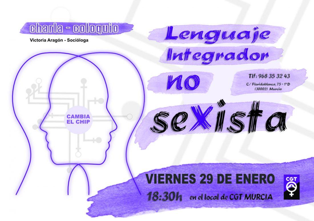 "29-e Murcia: Charla-coloquio ""Lenguaje Integrador NO Sexista"""