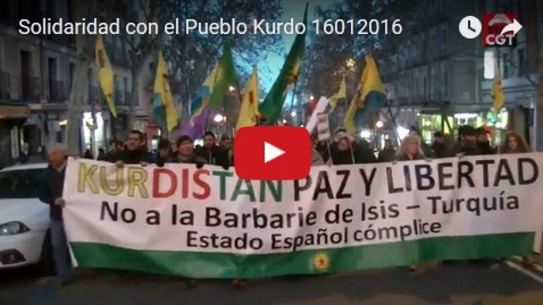 Vídeo: Manifestación 16E «Solidaridad con el Pueblo Kurdo»