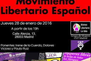 «Las Mujeres en el Movimiento Libertario» 28 de enero a las 7