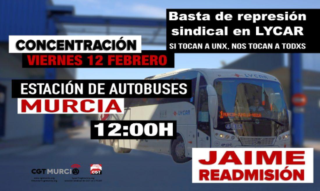 Concentración en Murcia contra la represión sindical