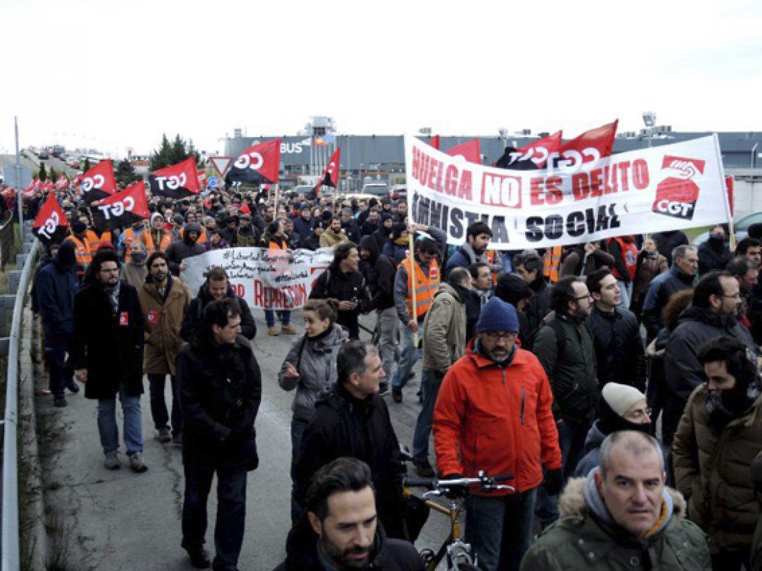 [Crónica] Manifestación 9F Airbus #HuelgaNoEsDelito