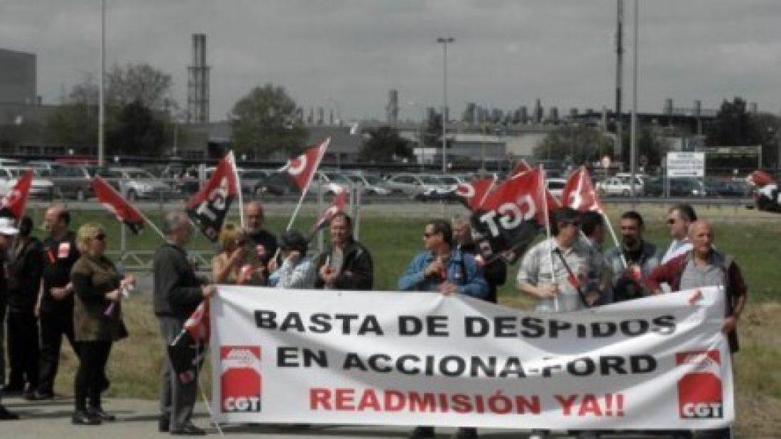 CGT exige la readmisión de 15 personas despedidas por la contrata de Ford Acciona Facility Services y denuncia la sustitución de empleo de calidad por precario