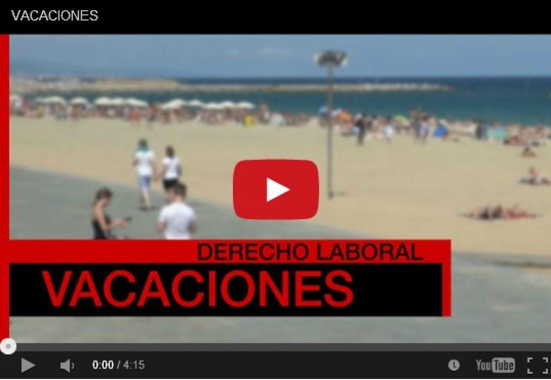 Vídeo: La regulación de las vacaciones laborales de las trabajadoras y trabajadores
