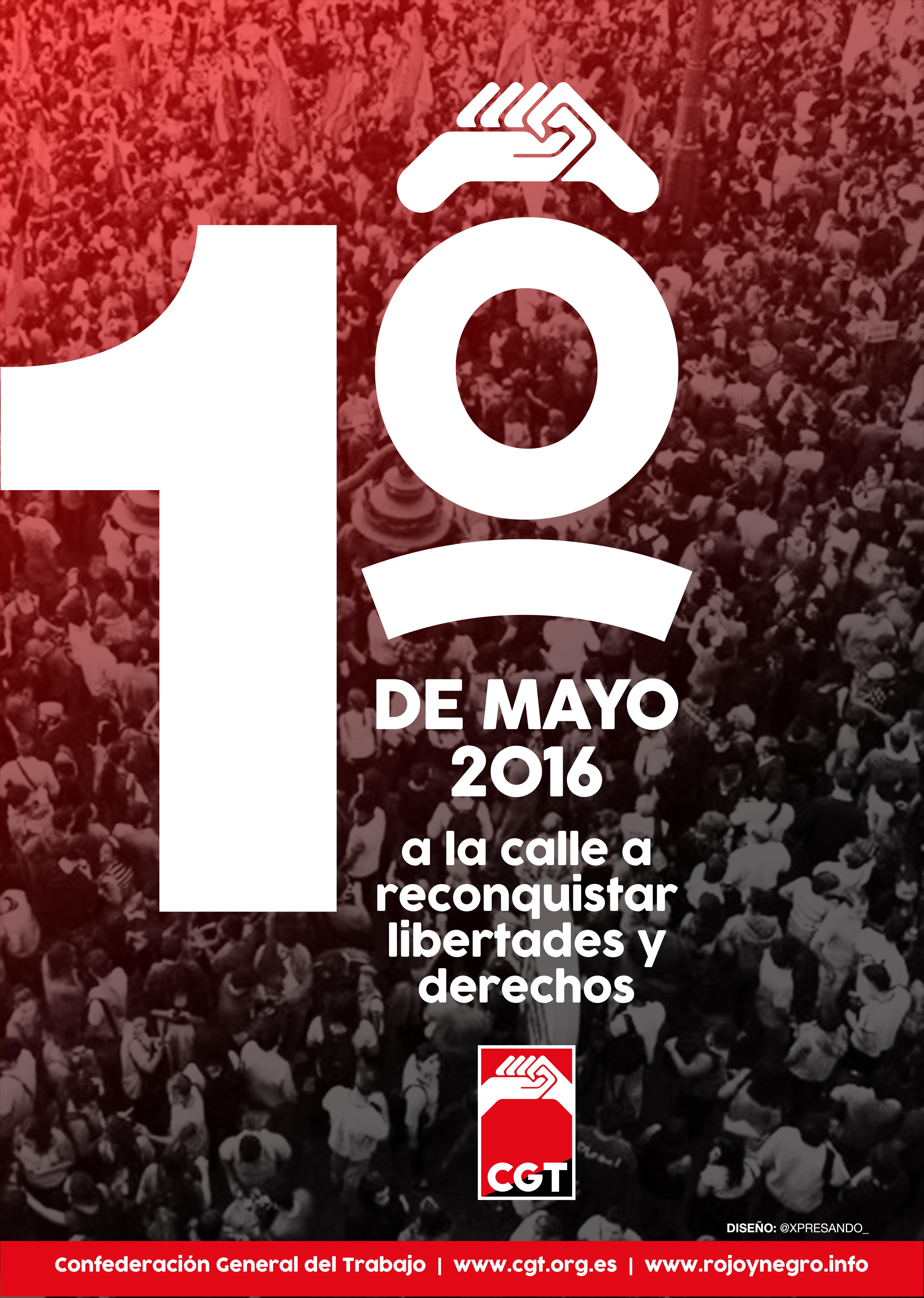 1º de Mayo: A la calle a reconquistar Libertades y Derechos