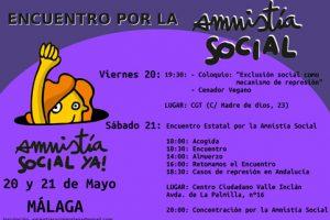20 y 21M: Encuentro por la Amnistía Social ya!!!