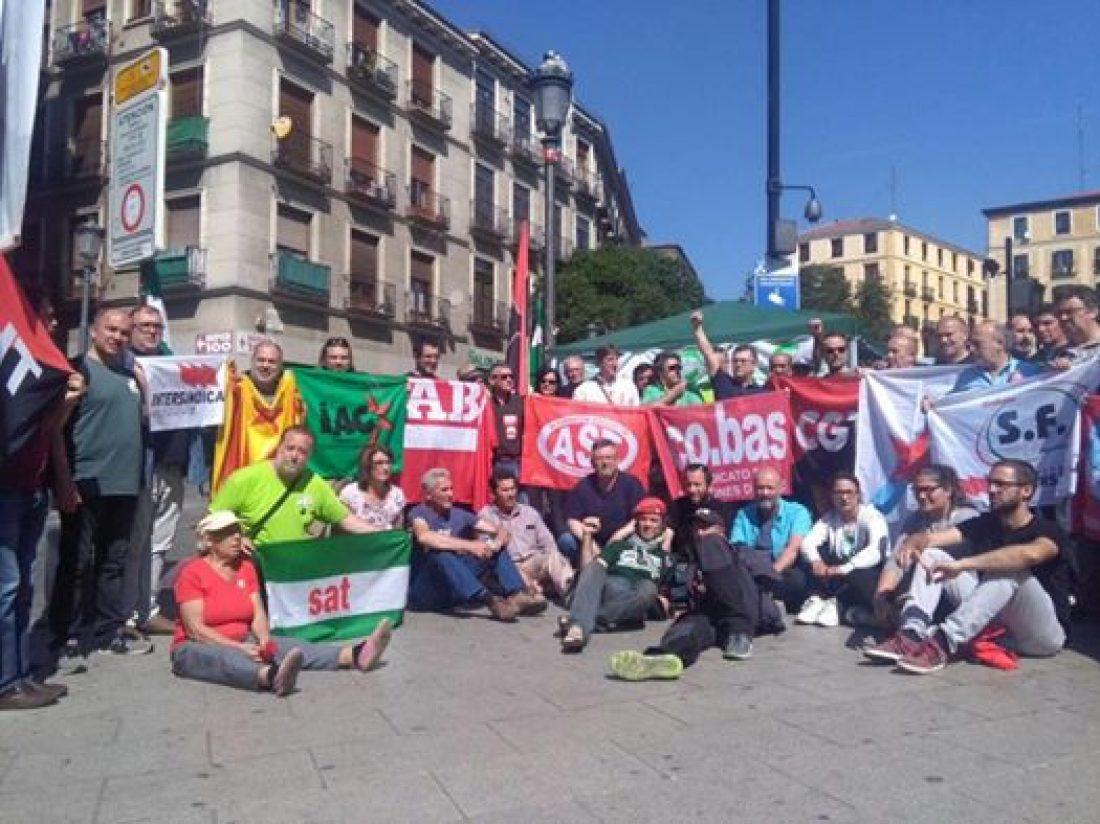 Sindicatos de clase y alternativos apoyan en Madrid al SAT y a Andrés Bódalo