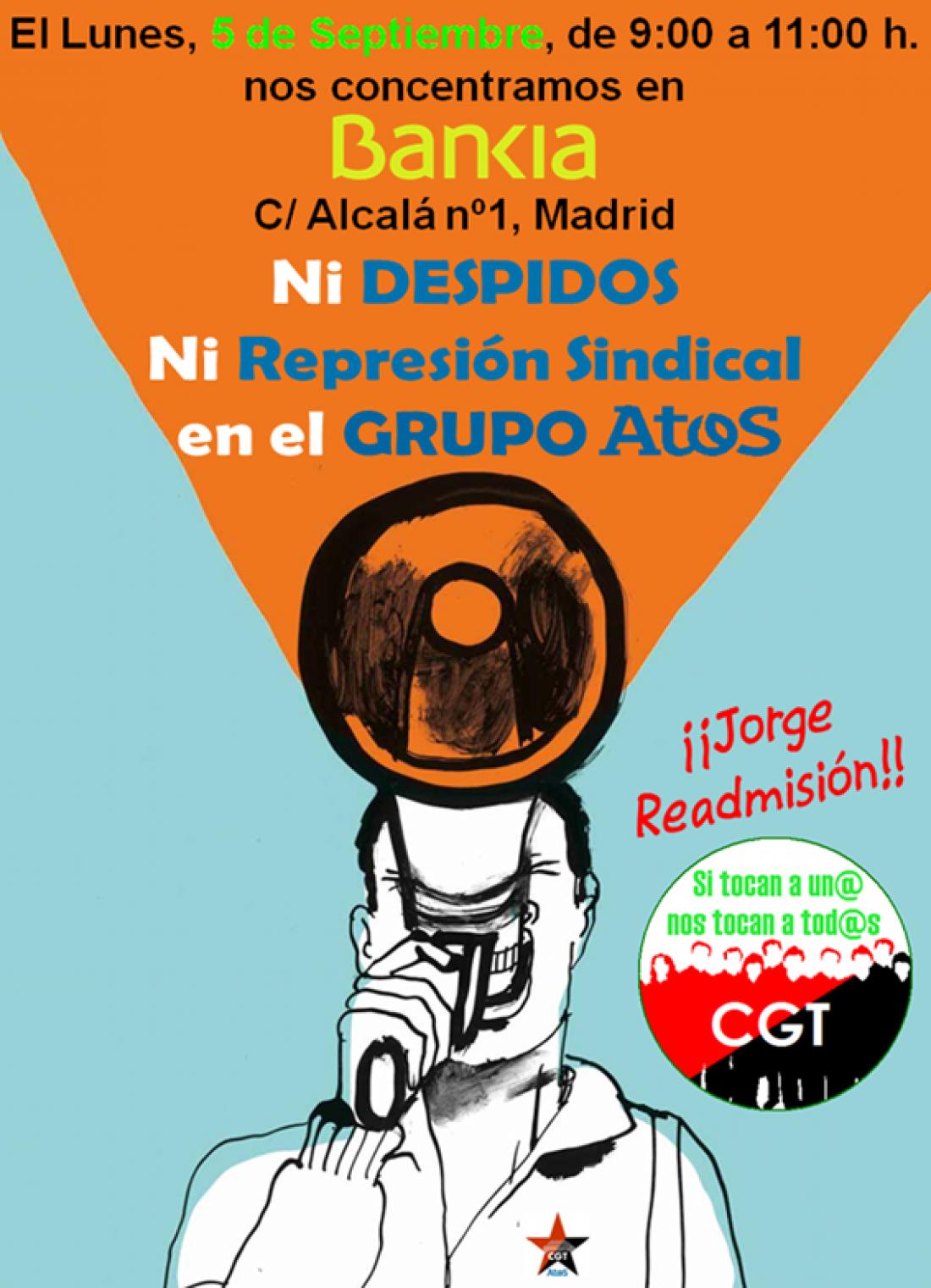 [MAD] 5-S: Concentración contra los Despidos y la Represión Sindical en el Grupo AtoS