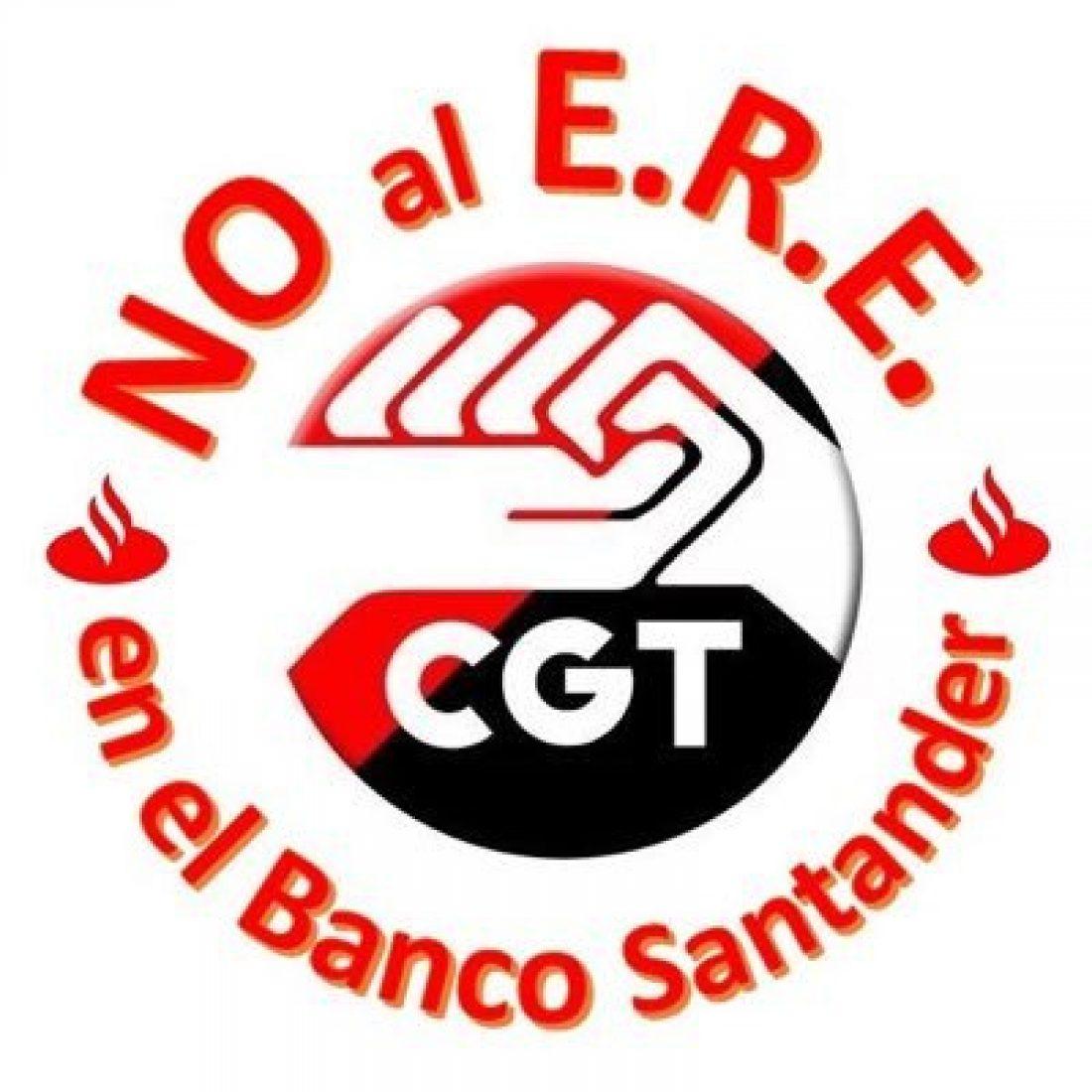 La CGT se moviliza contra el ERE del Banco de Santander