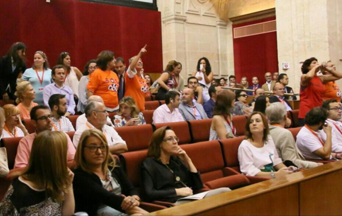 Tras el bochornoso desalojo del Parlamento andaluz, barajamos acudir al Comité Federal del PSOE el 1 de octubre