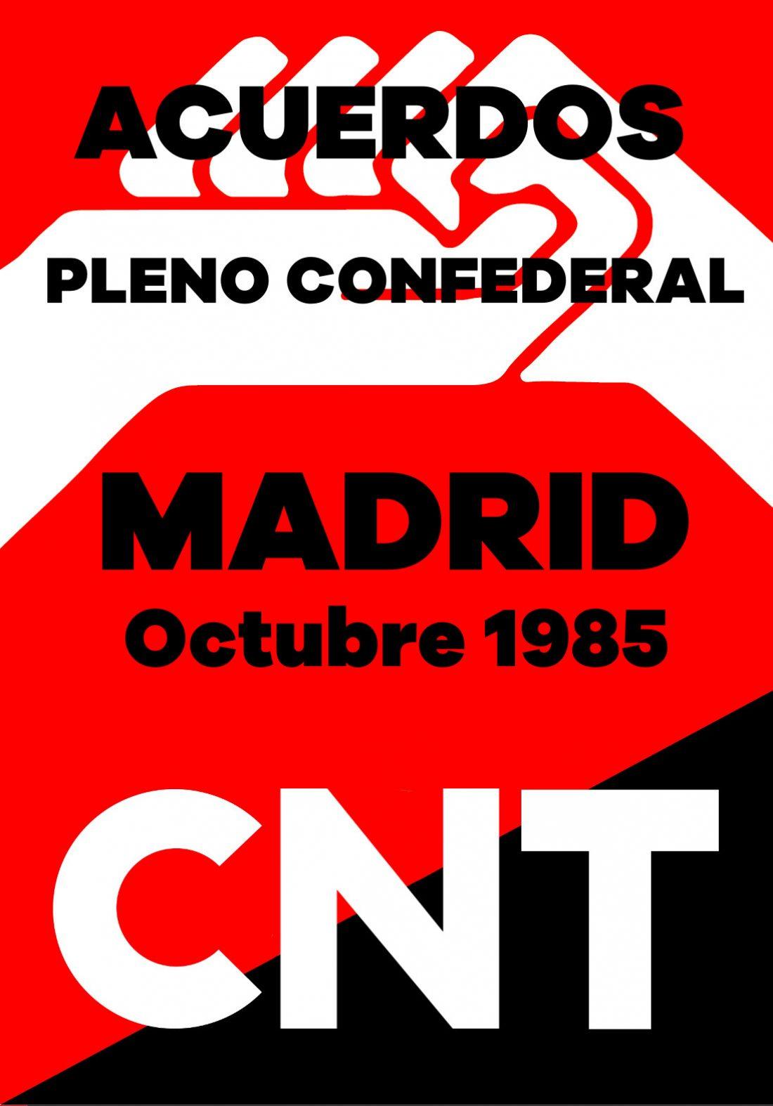Pleno Confederal de Octubre de 1985