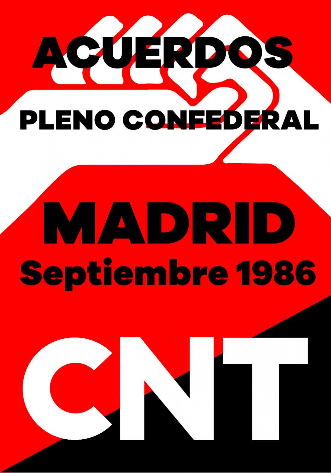 Pleno Confederal de Septiembre de 1986