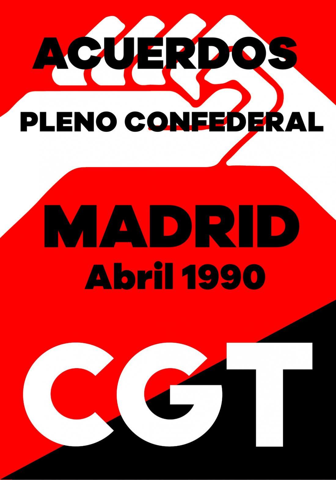 Pleno Confederal de Abril de 1990
