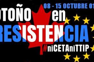 La CGT llama a participar en las manifestaciones contra el TTIP y el CETA que se celebran el 15 de octubre en las principales ciudades españolas