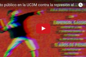 Vídeo: Acto público en la UC3M contra la represión al movimiento estudiantil