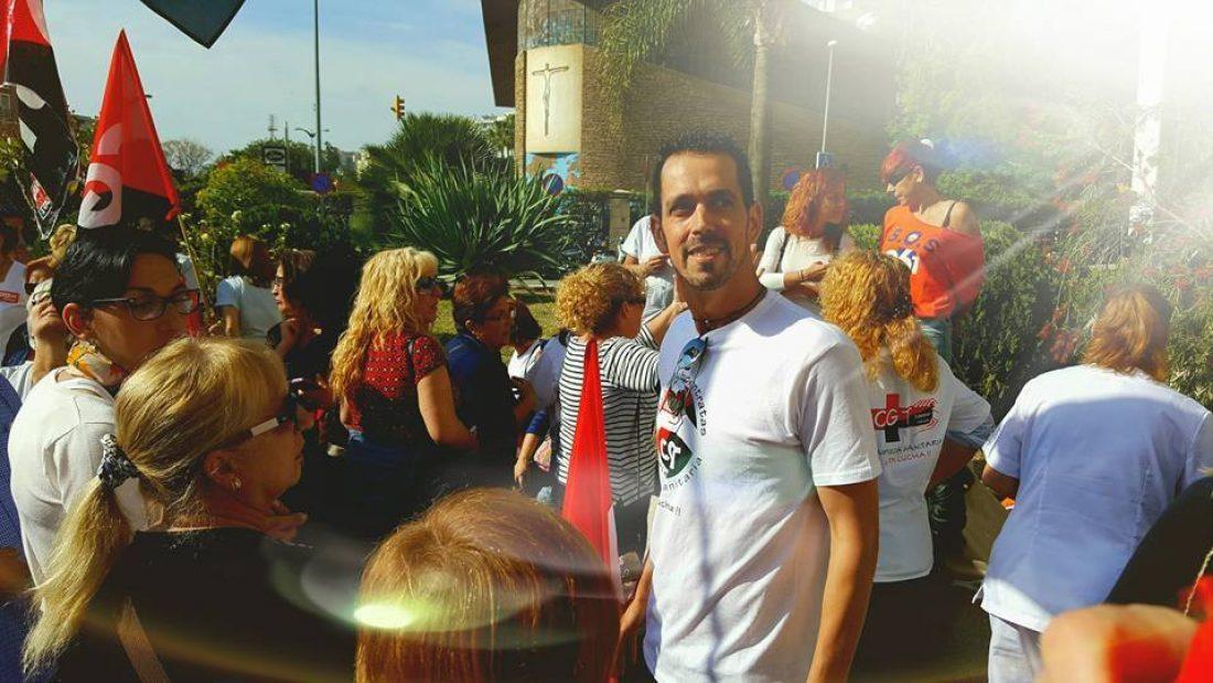 Sergio Torres, despedido por luchar contra los recortes en sanidad