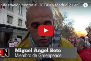 Manifestación contra el CETA en Madrid 21 enero 2017 #niCETAniTTIPniTISA