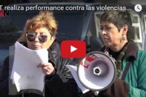 Vídeo: CGT realiza performance contra las violencias machistas frente al Ministerio de Sanidad
