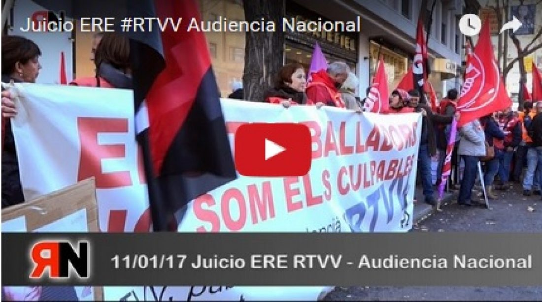 Vídeo: Juicio ERE #RTVV Audiencia Nacional