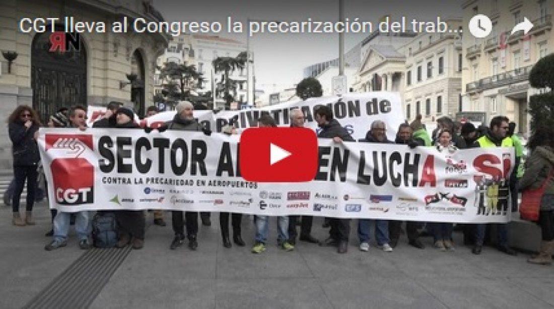 CGT lleva al Congreso la precarización del trabajo en los Aeropuertos de Aena
