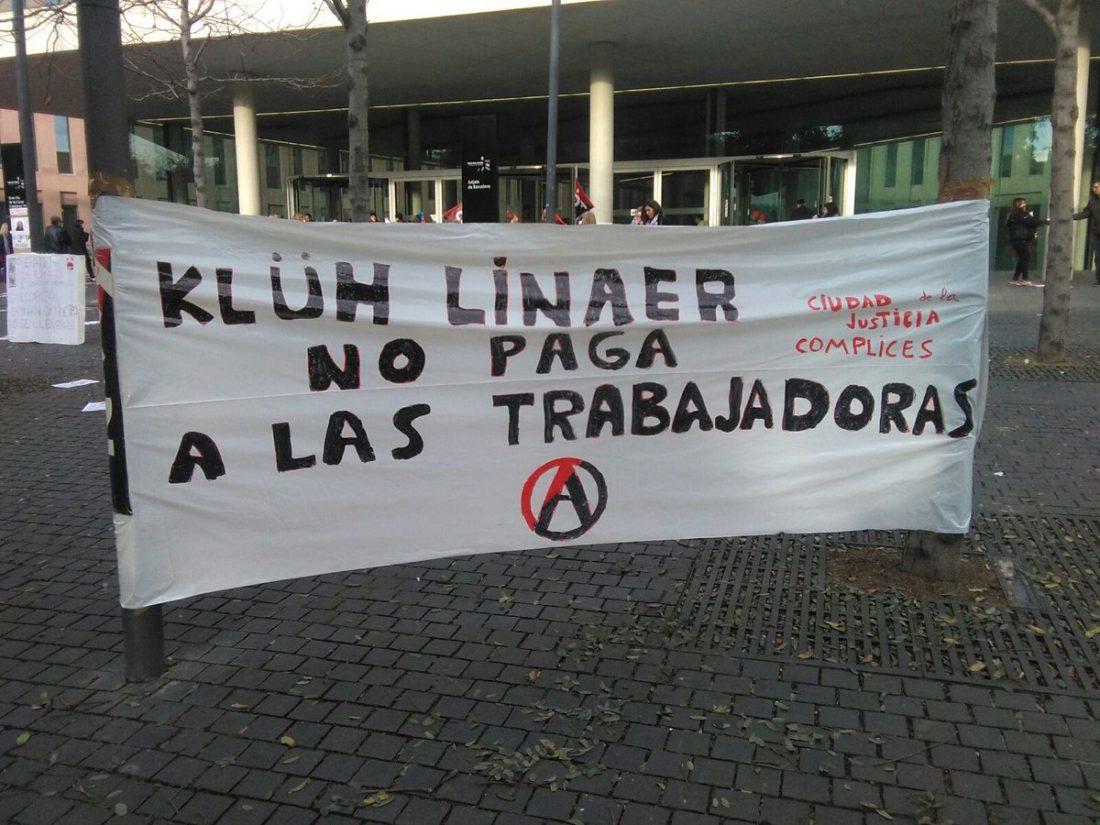 Hoy miércoles 25 de enero tercer día de huelga del personal de la limpieza de la Ciudad de la Justicia