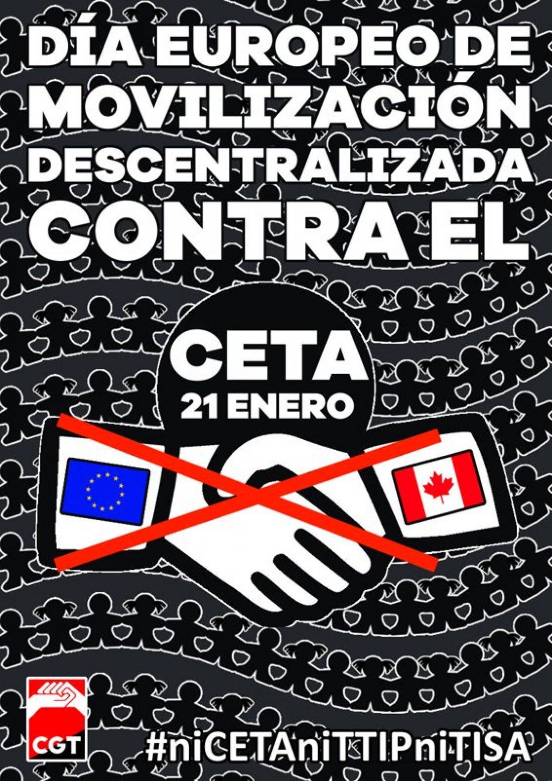 21-E: Día europeo de acciones descentralizadas contra el CETA