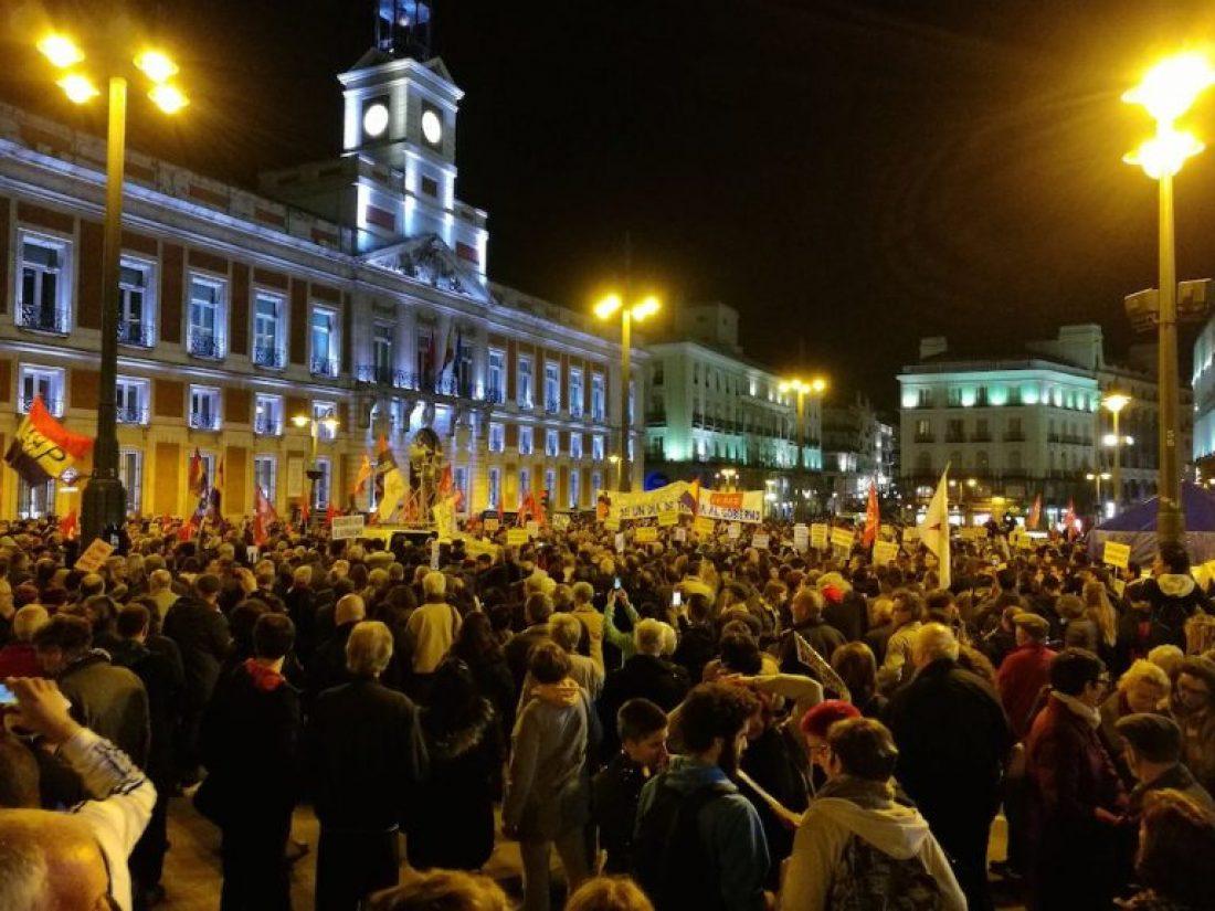 Varios miles de personas se manifiestan en Madrid junto a las Marchas de la Dignidad
