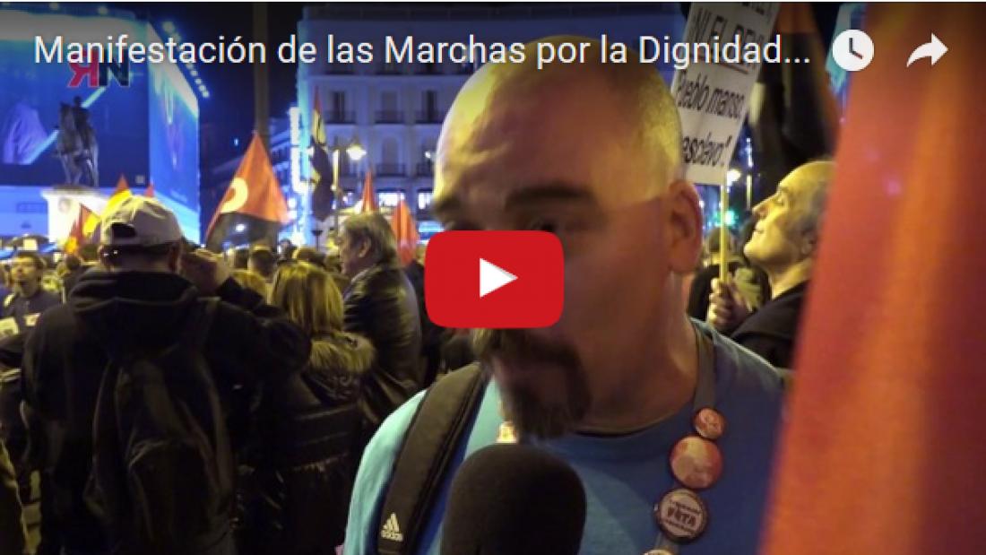 Vídeo: Manifestación de las Marchas por la Dignidad en Madrid 25.02.2017