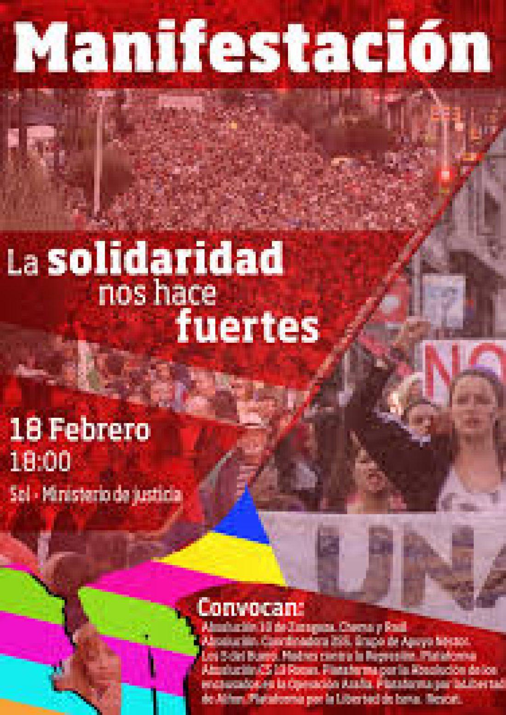 CGT participará en la manifestación del 18 de febrero contra la represión