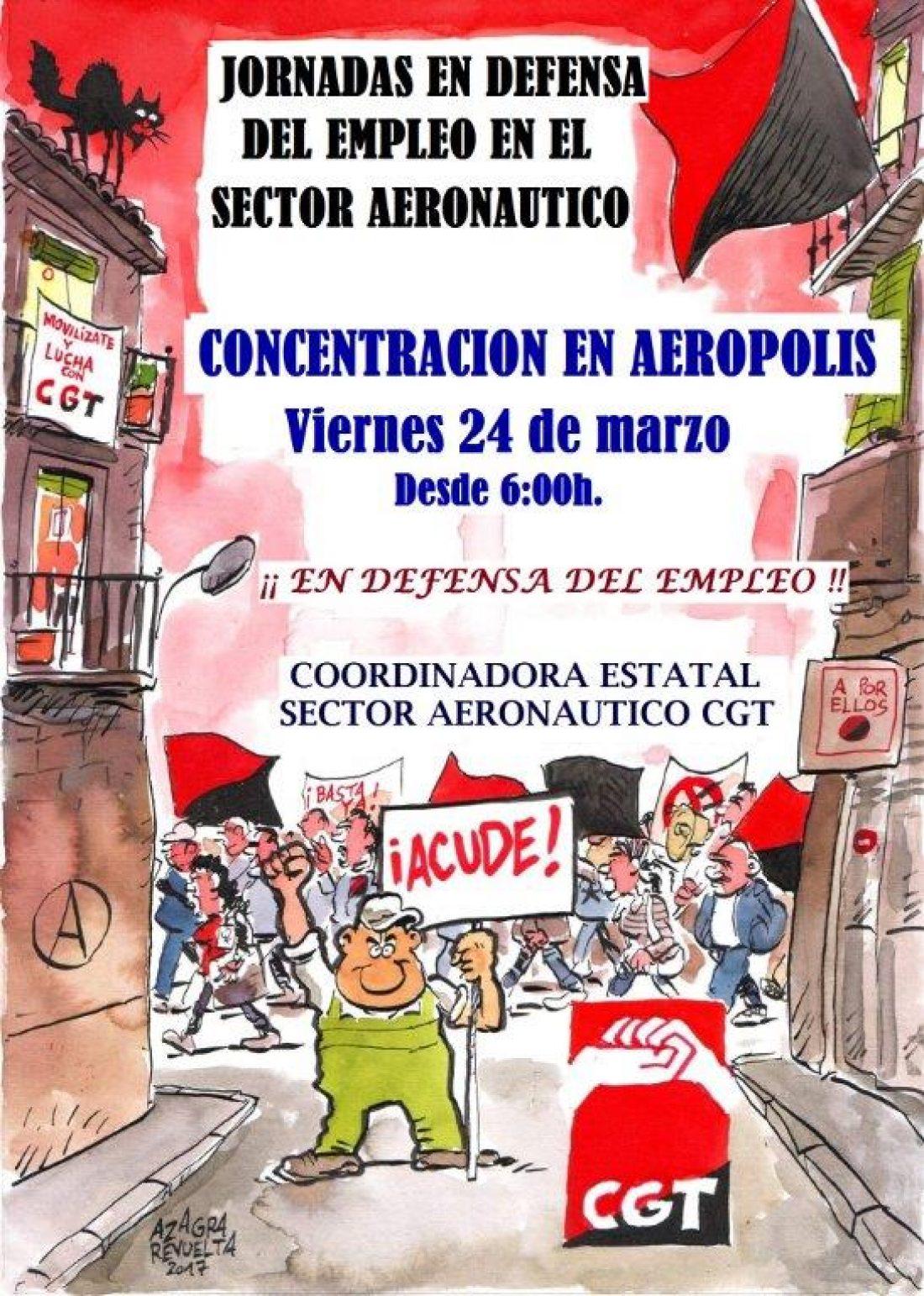 Jornadas en defensa del empleo en el Sector Aeronáutico