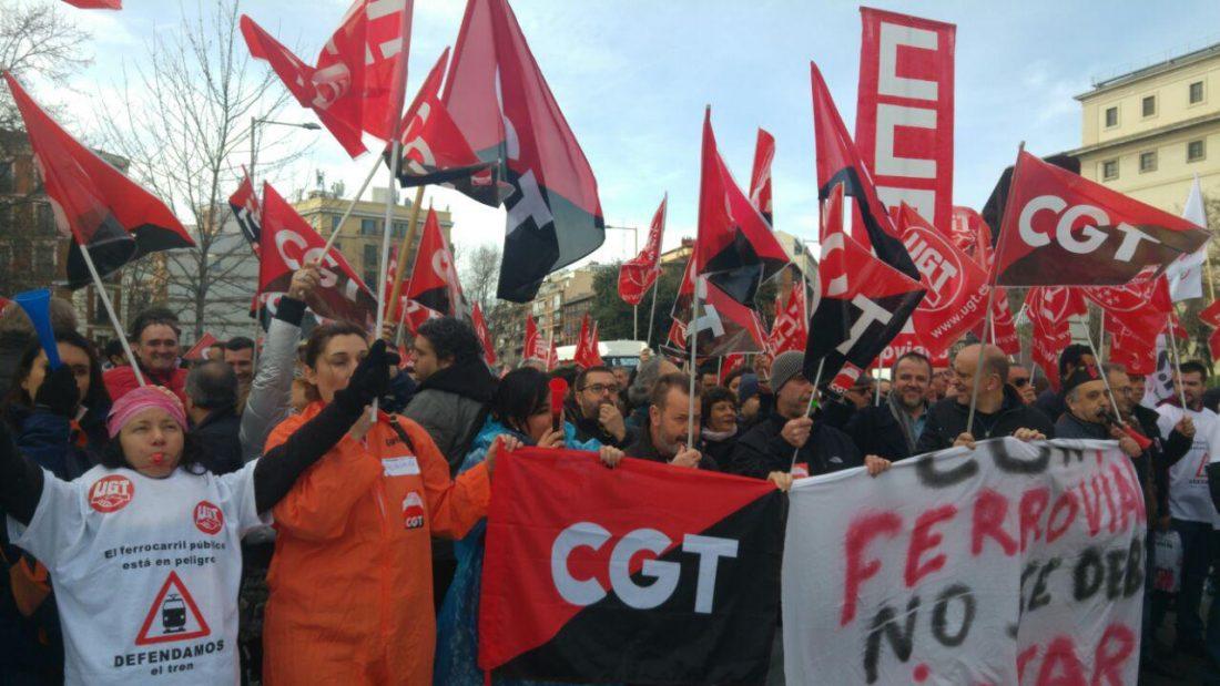 La plantilla de Ferrovial se manifiesta contra la explotación y la precariedad en su tercer día de huelga