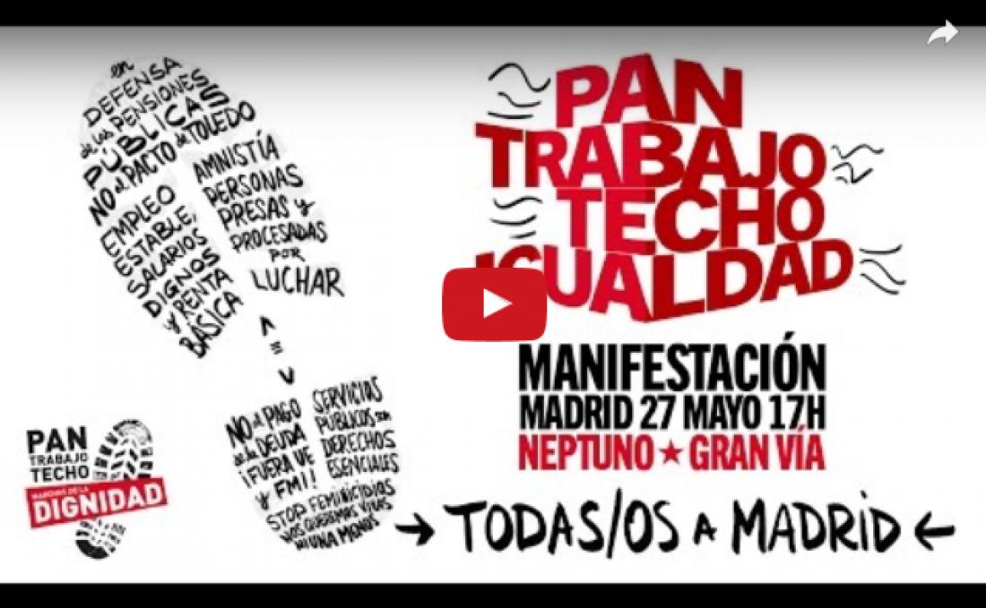 Emisión en Directo de la Rueda de Prensa de las Marchas de la Dignidad en Madrid