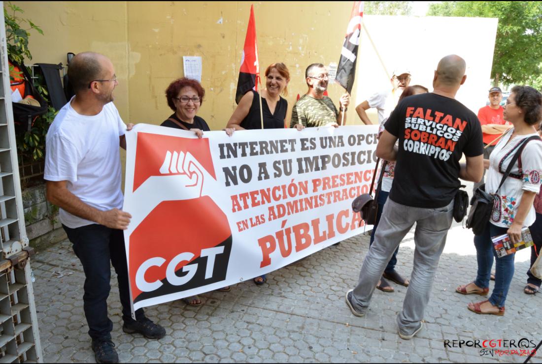 El próximo martes 11 de julio, CGT Sevilla se concentrará frente al Centro de Atención e Información de la Seguridad Social (CAISS)