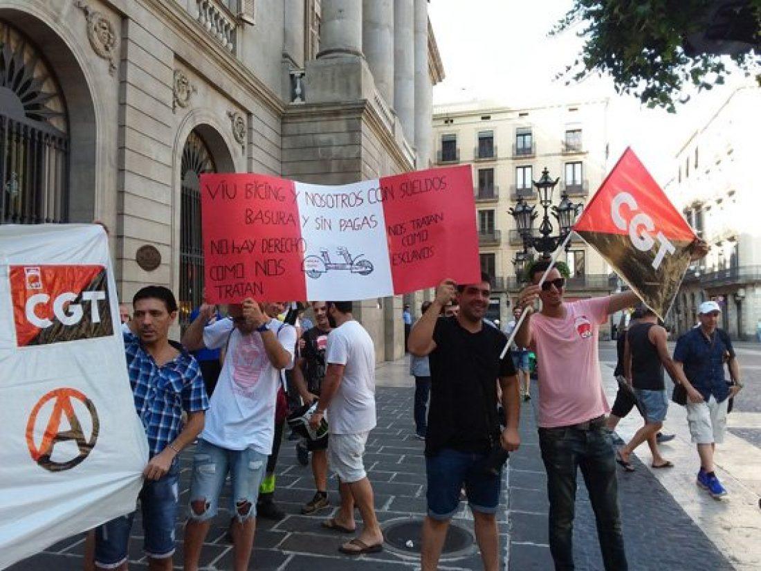 Éxito de la huelga en el bicing de Barcelona