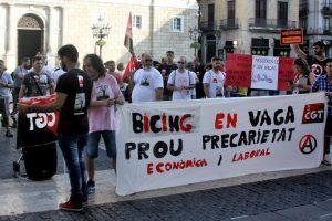 6º día de huelga en el Bicing de Barcelona
