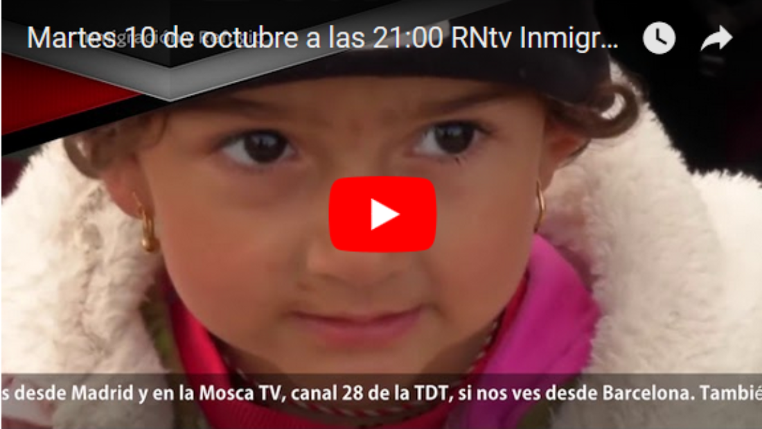 Martes 10 de octubre a las 21:00 ЯNtv Inmigración y Refugio