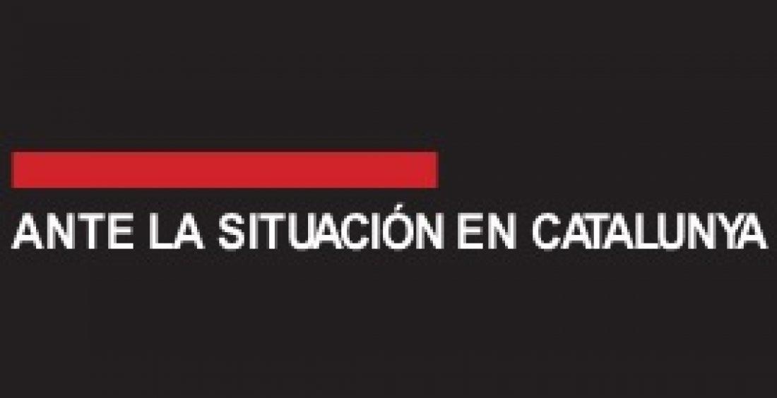 Ante la situación en catalunya