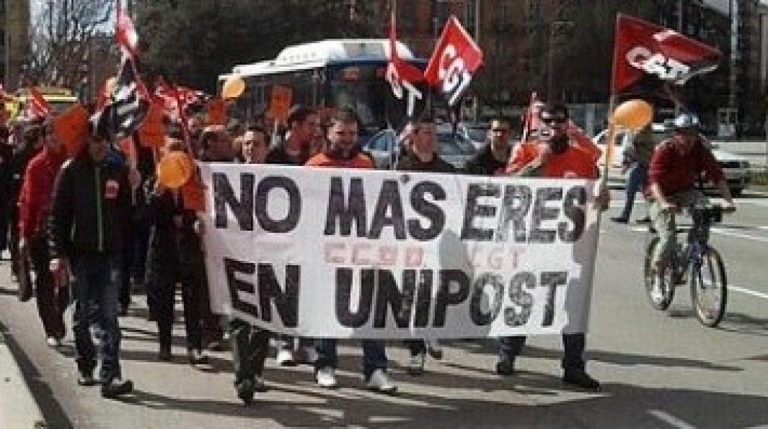 CGT convoca huelga en Unipost en todo el Estado contra el ERE y el cierre de la empresa los días 31 de octubre, 3 y 10 de noviembre