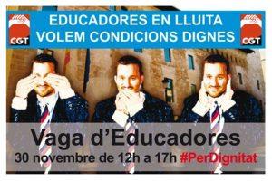 Las educadoras mantienen las huelgas en Educación