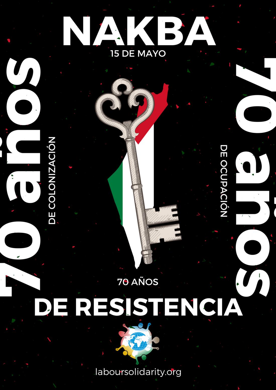 La Red Sindical Internacional de Solidaridad y Lucha en el 15 de mayo por Palestina Libre