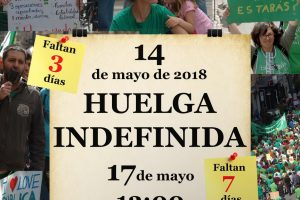 CGT presenta el preaviso de Huelga indefinida en la enseñanza pública no universitaria a partir del 14 de Mayo